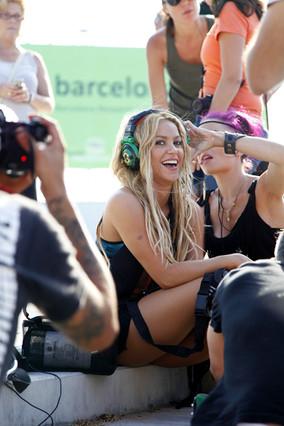 Shakira monta el 'show' en Barcelona