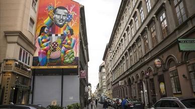 Un mural recuerda en Budapest a un español que salvó la vida a miles de judíos