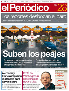 Portada de EL PERIDICO.