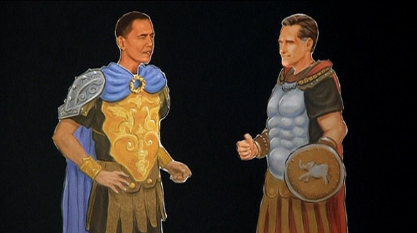 Obama y Romney, disfrazados