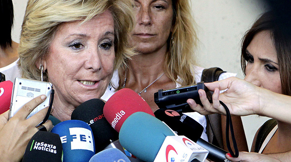 Las relaciones de Esperanza Aguirre con la prensa.
