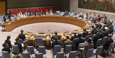 Reuni�n del Consejo de Seguridad de la ONU la psada noche.