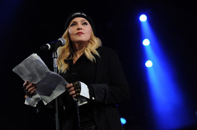 La cantante Madonna, el pasado 5 de febrero, en un acto benéfico en Nueva York.