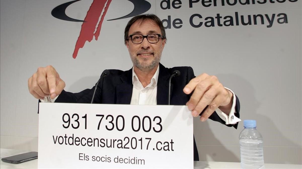 Benedito, en la presentación del anuncio del voto de censura.