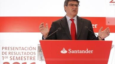 El consejero delegado del Santander, Jos� Antonio �lvarez, durante la presentaci�n de resultados.