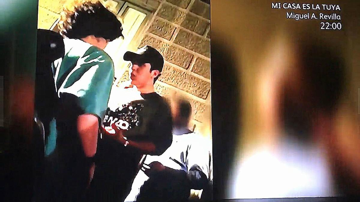 Froilán, en una captura del vídeo con la trifulca.