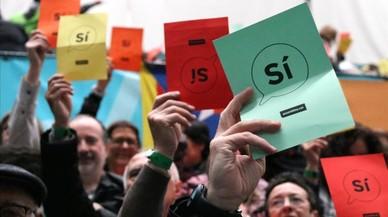 Puigdemont, a l'assemblea de l'ANC, emplaça l'Estat a dialogar
