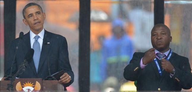 El fals traductor del funeral de Mandela