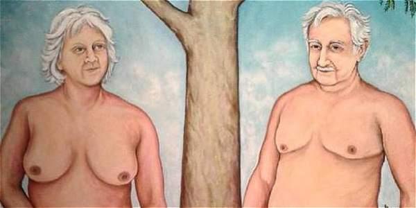 Pol�mica en Uruguay por una pintura de M�jica desnudo