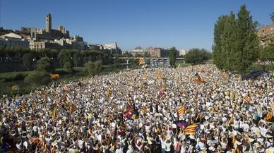 El sobiranisme porta a Lleida la manifestació més massiva de la seva història