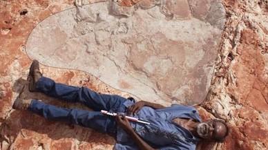 Una de las mayores huellas encontradas en Walmadany, en el noroeste de Australia.