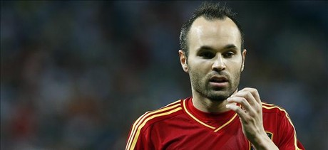 Iniesta, durante un partido de la Eurocopa.