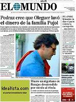 La portada de 'El Mundo'.