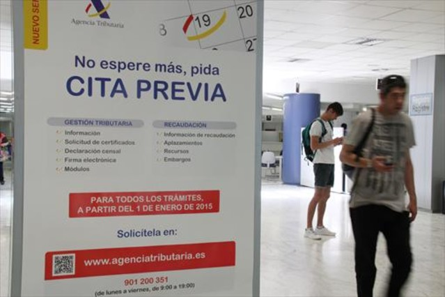 La presi n fiscal aument el a o pasado el doble que en la for Oficinas de agencia tributaria en barcelona