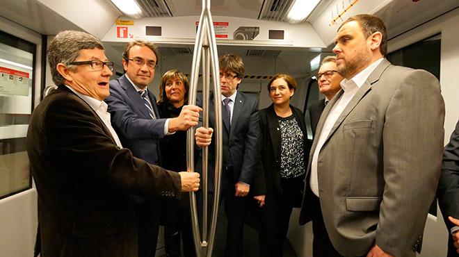 Inauguració de la L-9 de metro que uneix Barcelona i laeroport