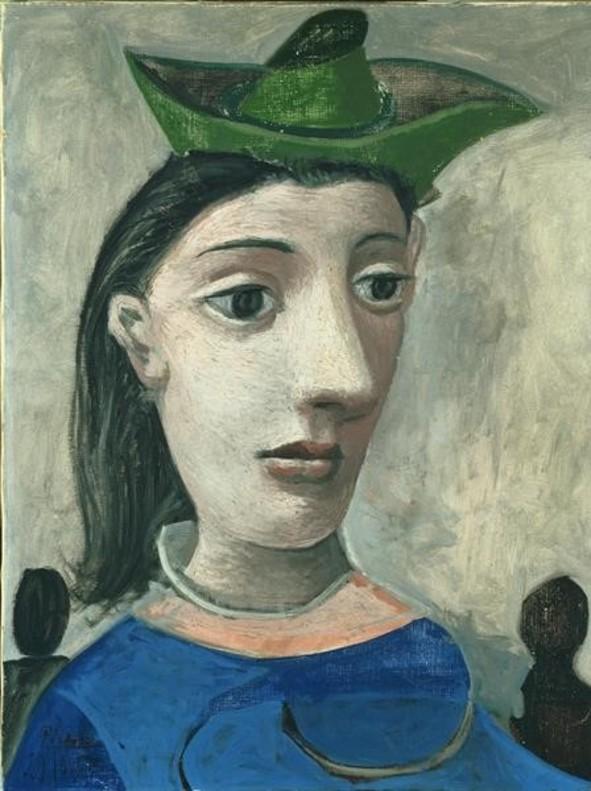 Mujer con sombrero verde, de Picasso, en CaixaForum.