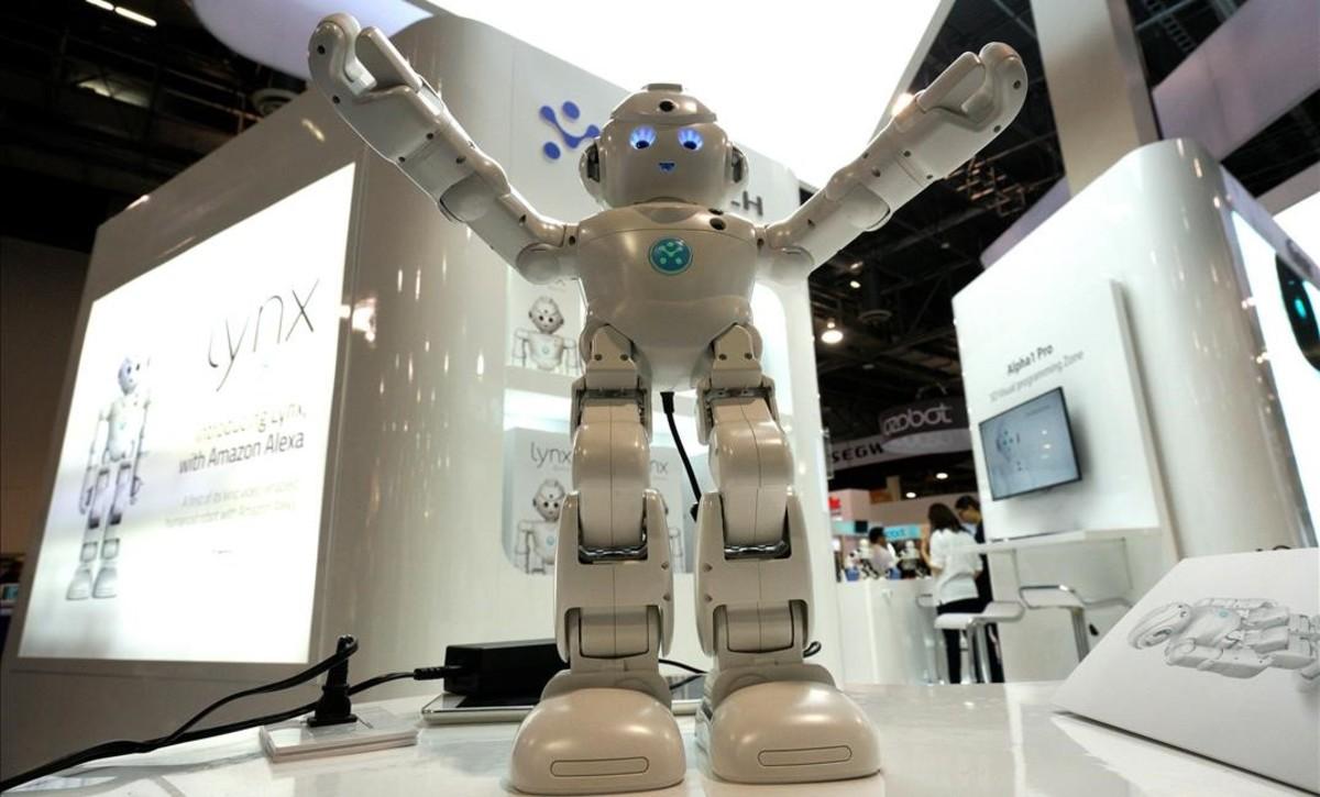 Lynx, uno de los robots con el software de Alexa de Amazon, el pasado CES.