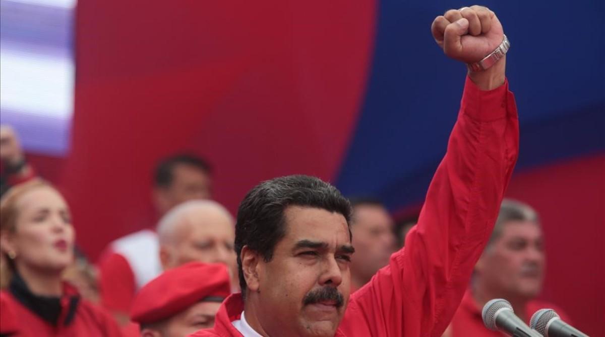 Maduro en un mítin en Caracas, el pasado 19 de abril.