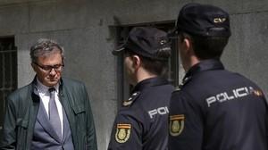 Jordi Pujol Ferrusola, a su llegada a la Audiencia Nacional, este martes.