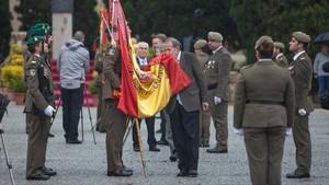 Jura de bandera de civiles celebrada en el cuartel del Bruc, en mayo del 2016.