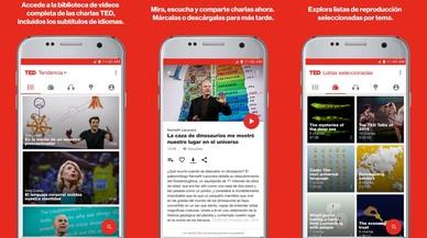 La aplicación para móviles de charlas TED.