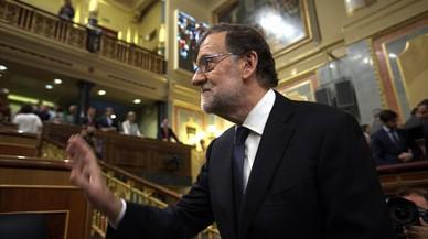 Rajoy enseña el botón rojo