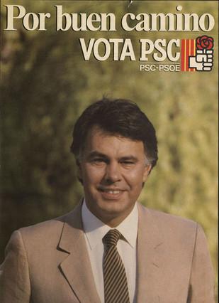 Cartel del PSC-PSOE para las elecciones generales de 1986