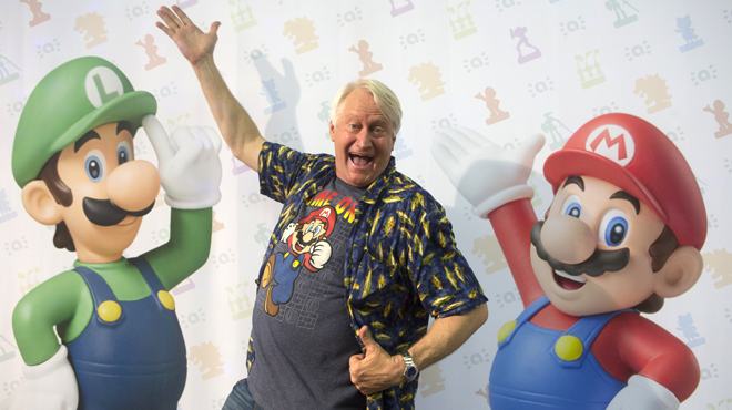 Charles Martinet, veu de Super Mario, a la Barcelona Games World.