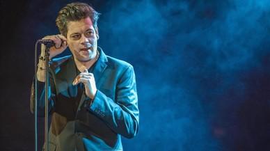 Benjamin Biolay, en el concierto que ofreció el viernes por la noche en la sala Barts, dentro del Festival Mil·lenni.
