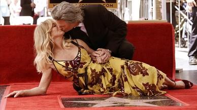Goldie Hawn y Kurt Russell derrochan amor