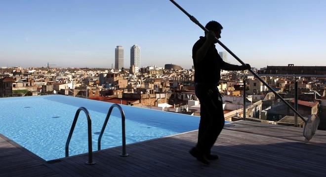 Piscina del Grand Hotel Central en Barcelona, del empresario Pau Guardans.
