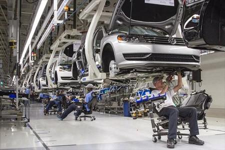 La planta de Volkswagen en in Chattanooga, en Estados Unidos.