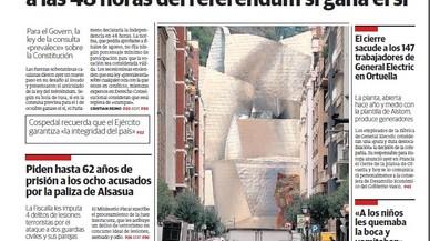 """""""Cop a la democràcia"""", """"escac a l'Estat"""", """"Puigdemont deroga l'Estat a Catalunya"""""""