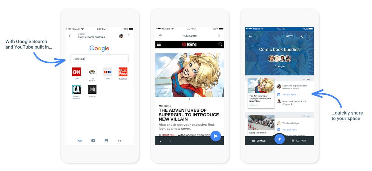 Google Spaces: nova eina per a converses en grup