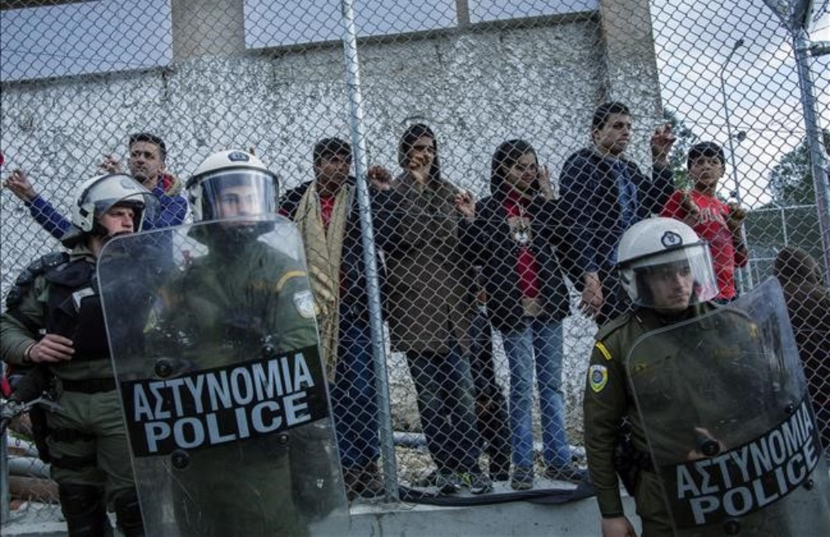 Los 'afortunados' de Lesbos
