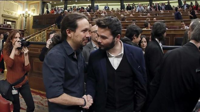 """Gabriel Rufián afirma que Felipe representa la """"putrefacció"""" del PSOE"""
