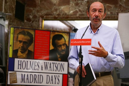 Rubalcaba presenta alternativas a la subida del IVA en Madrid, esta maana.