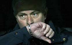 Jos Mourinho, tcnico del Madrid.