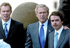 Blair, Bush i Aznar se citen per a la guerra a les Açores, el 16 de març del 2003.