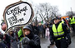 Manifestaci�n en Copenhague contra el cambio clim�tico.