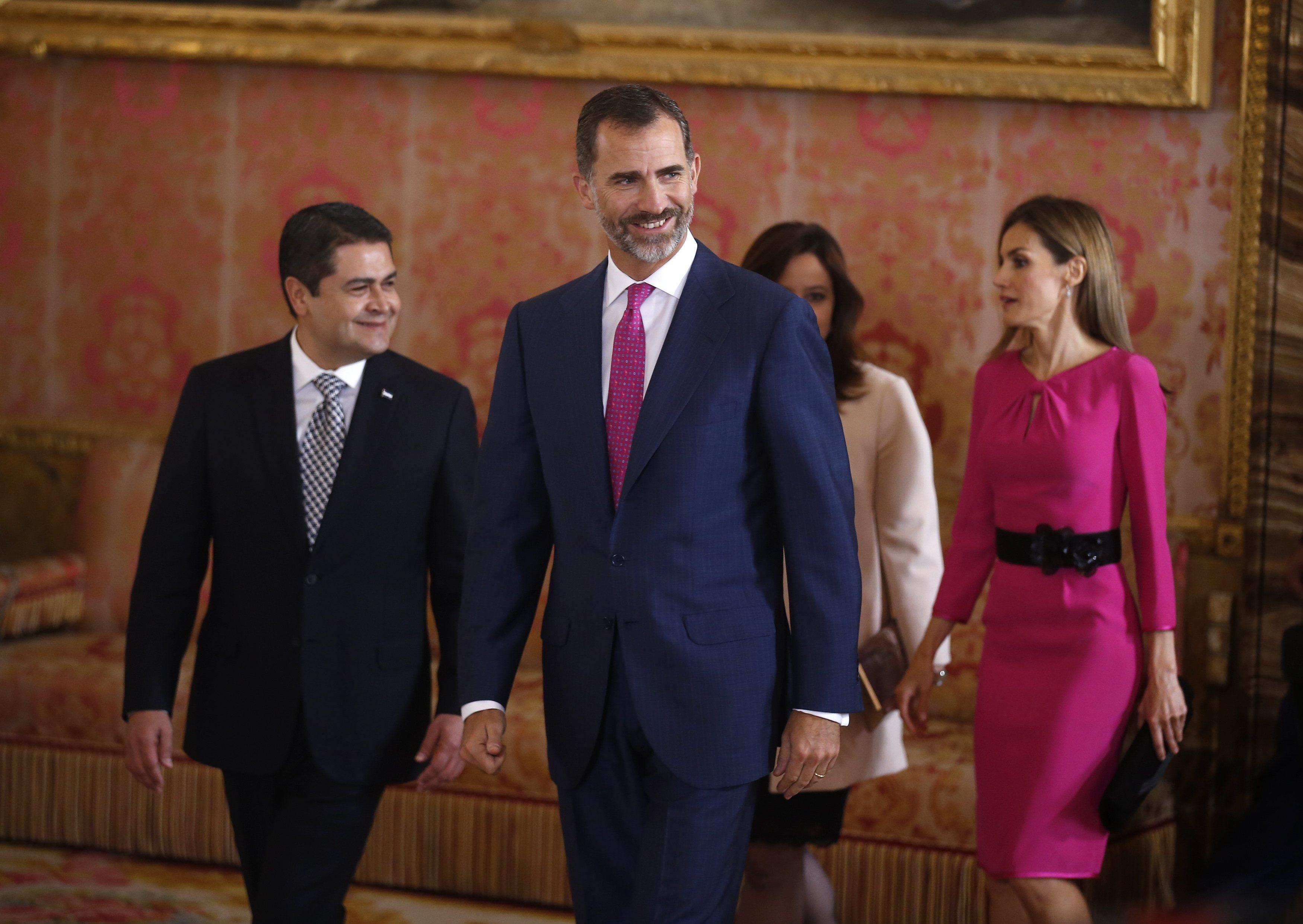 Felipe VI recibe al presidente de Honduras