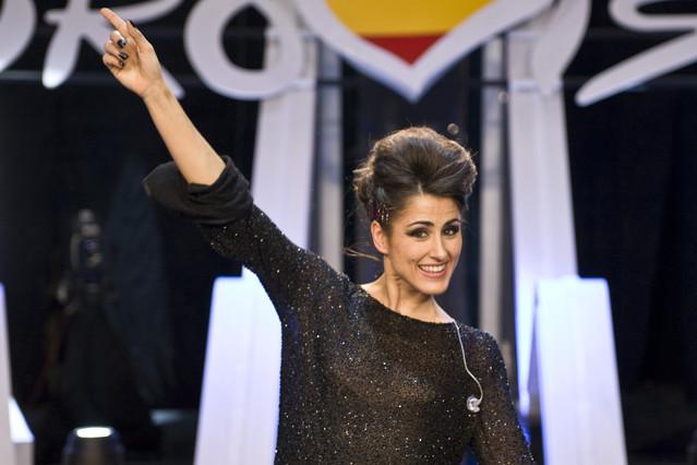 Barei, en la gala en la que salió elegida como representante de TVE en Eurovisión