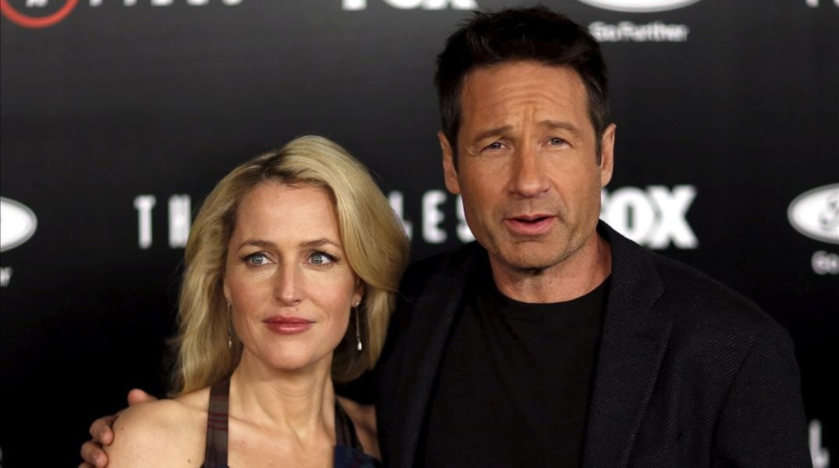 television expediente x gillian anderson and david duchovny