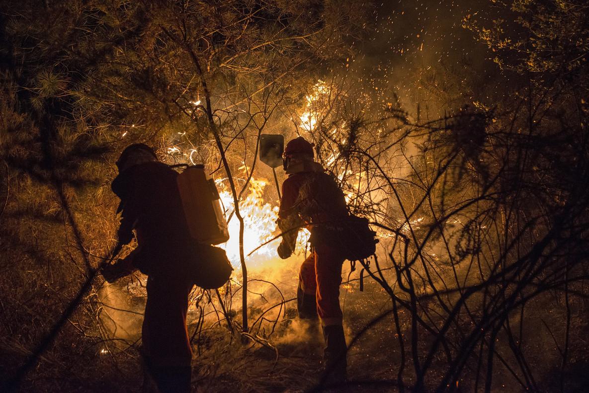 La alarmante sequía y la presencia de incendios forestales mantuvieron en vilo a Galicia a mediados de octubre.