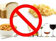 Alimentos con gluten pohibidos