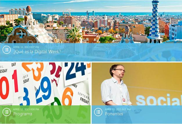 Arranca en Barcelona la Digital Week, unas jornadas para fomentar los negocios por internet