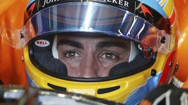 Fernando Alonso (McLaren-Honda), muy decepcionado del comportamiento de su monoplaza.