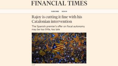 El 'Financial Times' critica las maniobras de Rajoy para frenar el 'procés'
