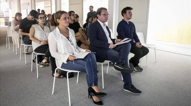 Marie V. Le Barzic, Aleix Valls y Pep Gómez, en la presentación de Numa Barcelona.