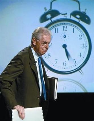 Monti presenta su programa para lograr apoyos políticos
